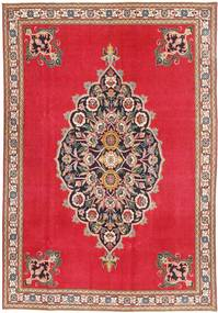 Tabriz Patina Rug 195X307 Authentic  Oriental Handknotted Crimson Red/Light Brown (Wool, Persia/Iran)