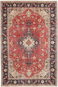 Tabriz Patina Matto 200X300 Itämainen Käsinsolmittu Tummanpunainen/Tummanruskea (Villa, Persia/Iran)