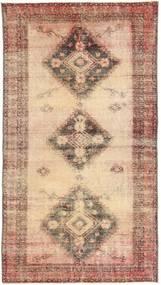 Colored Vintage Matta 108X203 Äkta Modern Handknuten Ljusbrun/Brun (Ull, Persien/Iran)
