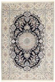 Nain 6La Habibian Tapijt 160X233 Echt Oosters Handgeknoopt Lichtgrijs/Beige (Wol/Zijde, Perzië/Iran)