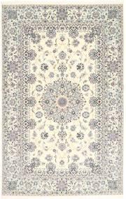 Naïn 6La Habibian Tapis 135X212 D'orient Fait Main Gris Clair/Beige (Laine/Soie, Perse/Iran)