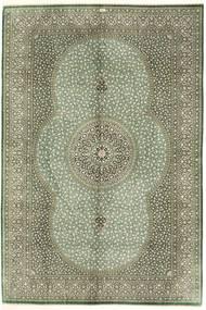 Kom Jedwab Dywan 203X303 Orientalny Tkany Ręcznie Jasnozielony/Ciemnozielony (Jedwab, Persja/Iran)