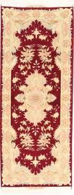 Tabriz Tapis 81X214 D'orient Fait Main Tapis Couloir Beige Foncé/Rouge Foncé/Rose Clair (Laine, Perse/Iran)