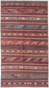 Kelim Turkki Matto 186X334 Itämainen Käsinkudottu Tummanharmaa/Vaaleanharmaa (Villa, Turkki)