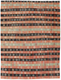 Kilim Turkish Rug 189X247 Authentic  Oriental Handwoven Light Brown/Dark Grey (Wool, Turkey)
