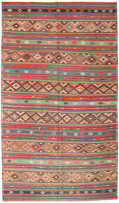 Kelim Tyrkiske Teppe 190X328 Ekte Orientalsk Håndvevd Rust/Lys Grå (Ull, Tyrkia)