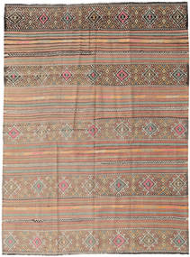 Kilim Turkish Rug 178X238 Authentic  Oriental Handwoven Light Brown/Dark Brown (Wool, Turkey)