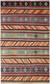 Kilim Turkish Rug 173X294 Authentic  Oriental Handwoven Brown/Black (Wool, Turkey)