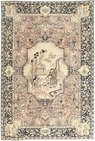 Tabriz Teppe 195X290 Ekte Orientalsk Håndknyttet Lysbrun/Beige (Ull, Persia/Iran)