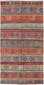 Kelim Tyrkiske Teppe 162X313 Ekte Orientalsk Håndvevd Mørk Grå/Rust (Ull, Tyrkia)