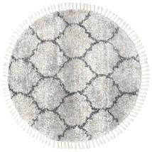 Meissa - Grey-Beige Mix/Dk.grey Rug Ø 150 Modern Round Light Grey/Beige ( Turkey)