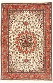 Tabriz 50 Raj Silkillä Matto 98X150 Itämainen Käsinsolmittu Beige/Vaaleanruskea (Villa/Silkki, Persia/Iran)