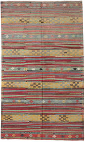 Kilim Turkish Rug 163X275 Authentic  Oriental Handwoven Light Grey/Dark Grey (Wool, Turkey)