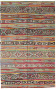 Kilim Turkish Rug 162X255 Authentic  Oriental Handwoven Light Brown/Light Grey/Dark Grey (Wool, Turkey)
