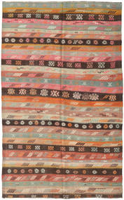 Kilim Turkish Rug 165X273 Authentic  Oriental Handwoven Light Brown/Brown (Wool, Turkey)