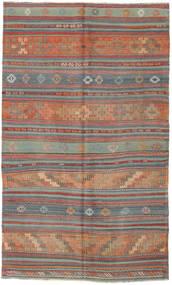 Kilim Turkish Rug 136X226 Authentic  Oriental Handwoven Light Brown/Dark Grey/Brown (Wool, Turkey)
