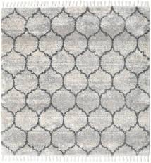 Meissa - Grey-Beige Mix/Dk.grey Rug 250X250 Modern Square Light Grey/Beige Large ( Turkey)