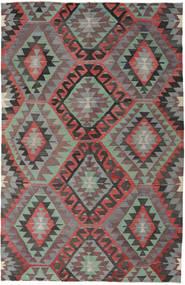 Kilim Turkish Rug 188X296 Authentic  Oriental Handwoven Dark Grey/Light Grey (Wool, Turkey)