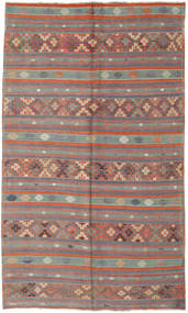 Kilim Turkish Rug 180X305 Authentic  Oriental Handwoven Dark Brown/Light Grey (Wool, Turkey)