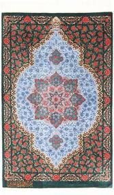 Ghom Silkki Matto 57X90 Itämainen Käsinsolmittu Tummanharmaa/Vaaleansininen (Silkki, Persia/Iran)