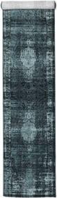 Jacinda - Mørk Teppe 80X300 Moderne Teppeløpere Mørk Blå/Blå ( Tyrkia)