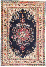Tabriz Rug 195X290 Authentic  Oriental Handknotted Dark Grey/Dark Beige (Wool, Persia/Iran)