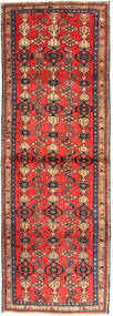 Zanjan Rug 102X300 Authentic  Oriental Handknotted Hallway Runner  Brown/Dark Brown (Wool, Persia/Iran)