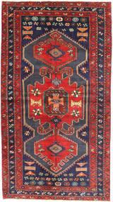 Zanjan Matto 126X237 Itämainen Käsinsolmittu Tummanvioletti/Ruskea (Villa, Persia/Iran)