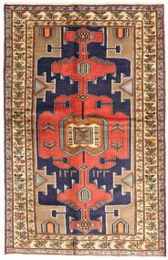 Saveh Matto 120X189 Itämainen Käsinsolmittu Tummanvioletti/Vaaleanruskea (Villa, Persia/Iran)