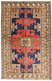 Saveh Vloerkleed 120X189 Echt Oosters Handgeknoopt Donkerpaars/Lichtbruin (Wol, Perzië/Iran)