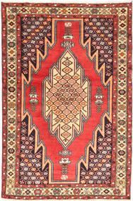 Hamadan Matto 126X200 Itämainen Käsinsolmittu Beige/Tummanruskea (Villa, Persia/Iran)