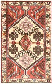 Hamadan Rug 75X124 Authentic Oriental Handknotted Beige/Dark Brown (Wool, Persia/Iran)