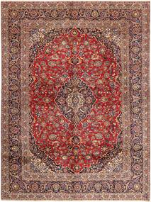 Keshan Rug 297X403 Authentic  Oriental Handknotted Dark Red/Light Brown Large (Wool, Persia/Iran)
