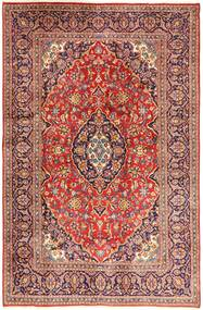 Keshan Rug 195X302 Authentic  Oriental Handknotted Dark Red/Rust Red (Wool, Persia/Iran)