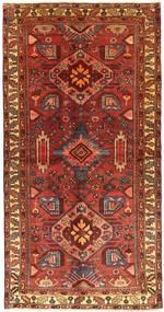 Hamadan Tapis 121X238 D'orient Fait Main Rouge Foncé/Marron Foncé (Laine, Perse/Iran)
