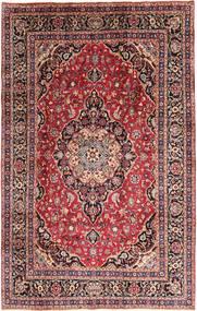 Mashad Matto 202X310 Itämainen Käsinsolmittu Tummanruskea/Vaaleanpunainen (Villa, Persia/Iran)