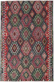 キリム トルコ 絨毯 185X280 オリエンタル 手織り 黒/薄い灰色 (ウール, トルコ)