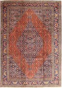 Tabriz Matto 237X345 Itämainen Käsinsolmittu Vaaleanruskea/Tummanpunainen (Villa, Persia/Iran)