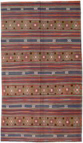 Kilim Turkish Rug 193X333 Authentic  Oriental Handwoven Dark Red/Dark Grey (Wool, Turkey)