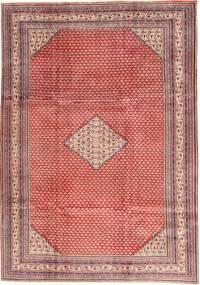 Sarough Mir Matta 210X293 Äkta Orientalisk Handknuten Ljusrosa/Mörkröd (Ull, Persien/Iran)