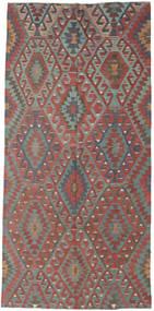 キリム トルコ 絨毯 163X342 オリエンタル 手織り 深紅色の/薄い灰色 (ウール, トルコ)