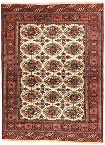Turkaman Χαλι 105X144 Ανατολής Χειροποιητο Σκούρο Κόκκινο/Καφέ (Μαλλί, Περσικά/Ιρανικά)