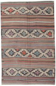 Kilim Turkish Rug 160X250 Authentic  Oriental Handwoven Dark Grey/Light Grey (Wool, Turkey)