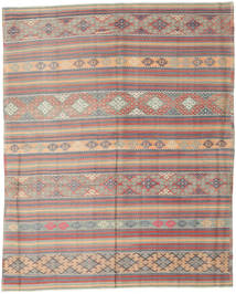 Kilim Turkish Rug 196X244 Authentic  Oriental Handwoven Light Grey/Dark Brown (Wool, Turkey)