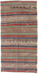 Kilim Turkish Rug 152X295 Authentic  Oriental Handwoven Light Brown/Brown (Wool, Turkey)
