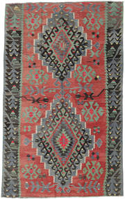 Kilim Turkish Rug 163X261 Authentic  Oriental Handwoven Dark Red/Light Grey (Wool, Turkey)