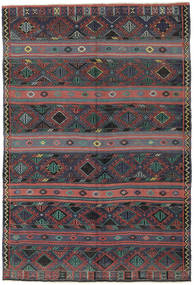 Kilim Turkish Rug 168X250 Authentic  Oriental Handwoven Dark Grey/Dark Green (Wool, Turkey)