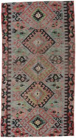 Kilim Turkish Rug 163X300 Authentic  Oriental Handwoven Dark Grey/Dark Red (Wool, Turkey)