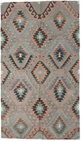 Kilim Turquía Alfombra 176X307 Oriental Tejida A Mano Gris Claro/Marrón Oscuro (Lana, Turquía)