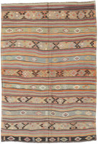 Kilim Turkish Rug 172X250 Authentic  Oriental Handwoven Light Brown/Light Grey (Wool, Turkey)